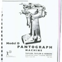 Taylor-Hobson Model D Pantograph Machine